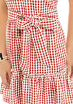 Womens One Shoulder Yarn Dyed Dress