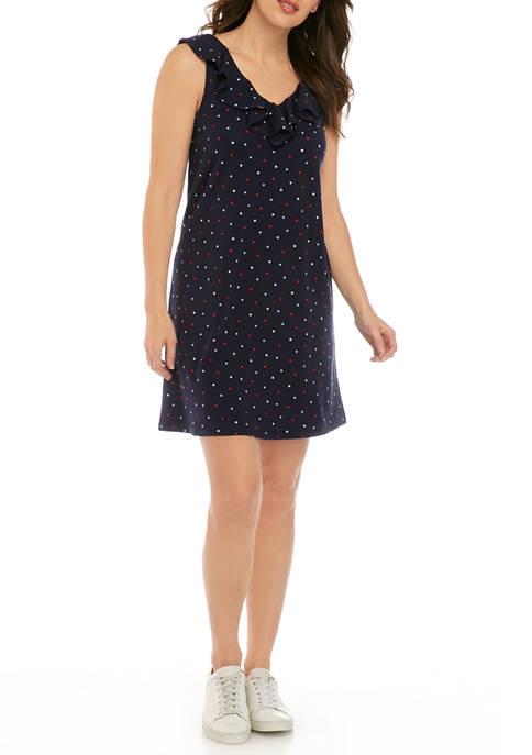 Womens Sleeveless Ruffle Dress