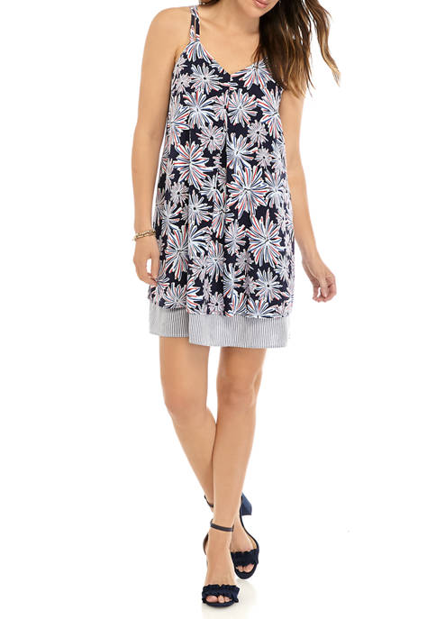 Womens Sleeveless Printed Tank Dress