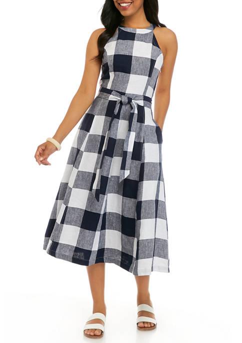 Crown & Ivy™ Womens Sleeveless Yarn Dyed Dress