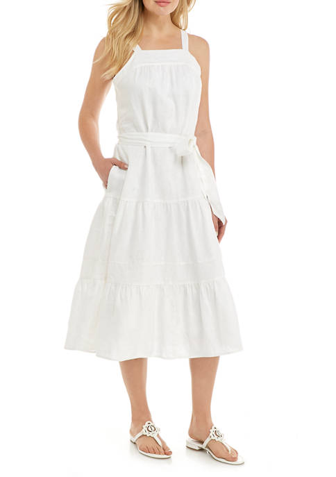 Crown & Ivy™ Womens Sleeveless Tiered Midi Dress