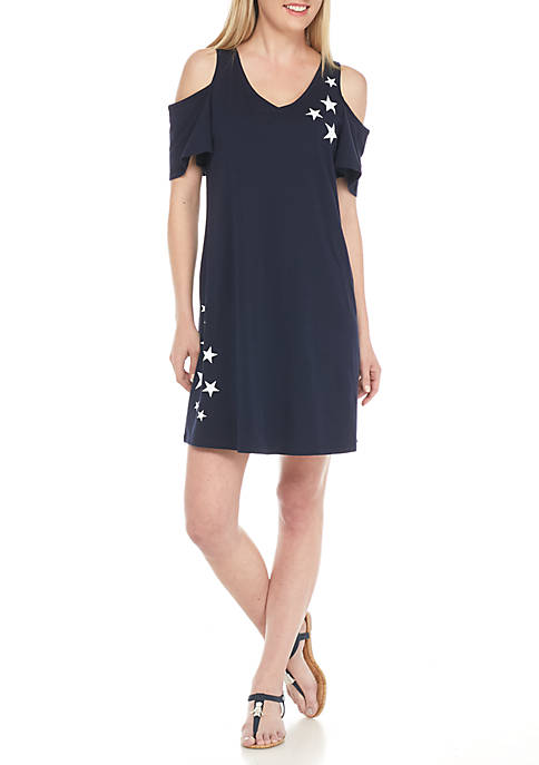 Crown & Ivy™ Cold Shoulder Tee Dress