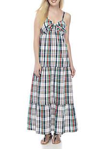 Tie Front Peplum Dress