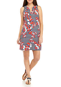 Mommy & Me Floral Gingham Print Signature Dress