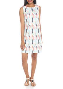 Sleeveless Print Knit Dress