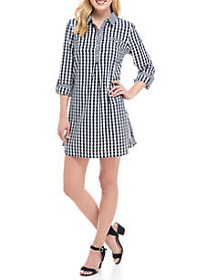 32a70366cc8 ... Crown   Ivy™ 3 4 Sleeve Gingham Dress