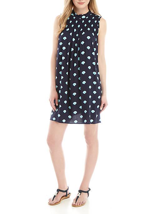 Crown & Ivy™ Sleeveless Smocked Yoke Printed Dress