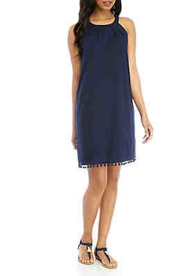 447534fa Crown & Ivy™ Sleeveless Halter Neck Dress ...