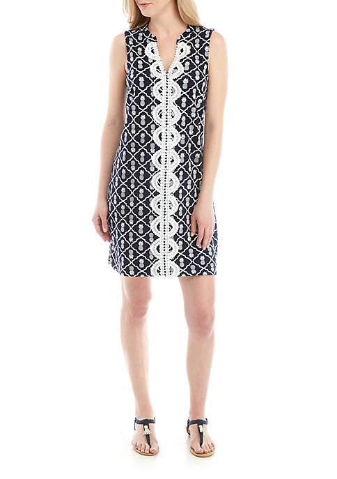 Crown & Ivy™ Sleeveless Crochet Front Kurta Dress