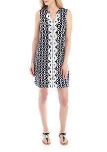 3521bc3b9e54c ... Crown   Ivy™ Sleeveless Crochet Front Kurta Dress