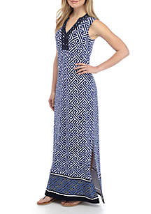 ede737e96b6d ... Crown & Ivy™ Sleeveless Embroidered Printed Kurta Dress