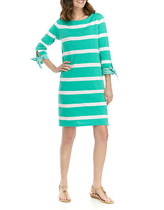 55ed346207974 Crown & Ivy™. Crown & Ivy™ Plus Size Tie Cuff Stripe Dress