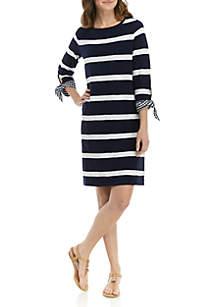 53d6e1647c99 ... Crown & Ivy™ Plus Size Tie Cuff Stripe Dress