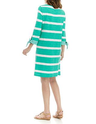 f28c88d688e58 Crown & Ivy™ Plus Size Tie Cuff Stripe Dress   belk