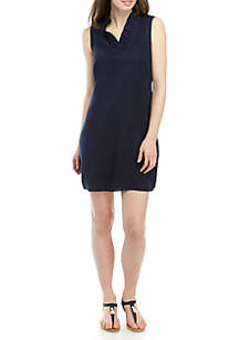 Crown & Ivy™ Sleeveless Ruffle Neck Dress
