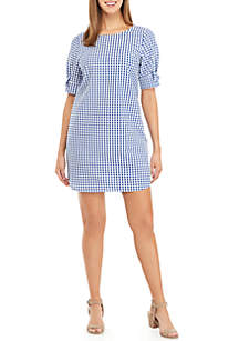 Crown & Ivy™ Short Sleeve Bow Dress
