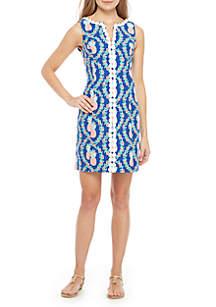 Crown & Ivy™ Sleeveless Crochet Print Dress