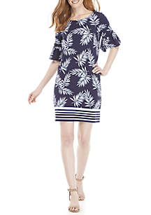 733ce349e42 ... Crown   Ivy™ Short Bell Sleeve Printed Dress