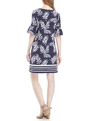 095a54f0e8dfc ... Crown   Ivy™ Short Bell Sleeve Printed Dress