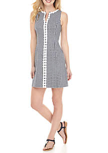 7064217e24836 ... Crown   Ivy™ Sleeveless Crochet Gingham Dress