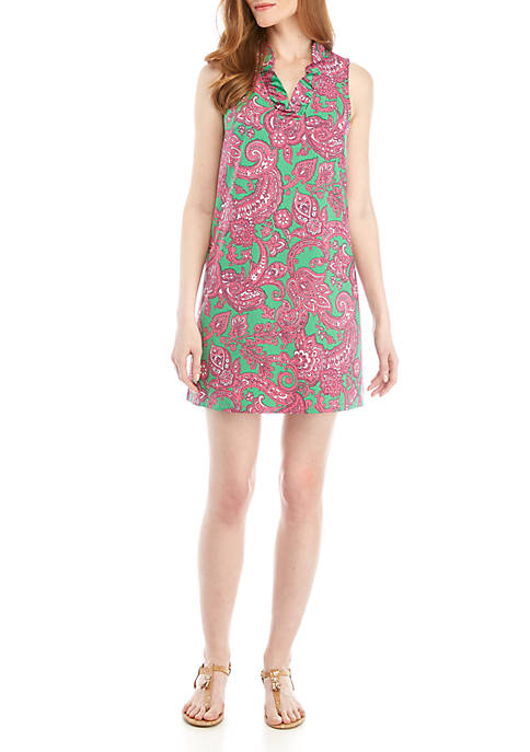 Crown & Ivy™ Sleeveless Paisley A Line Dress
