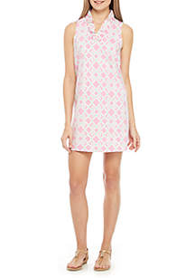 91ebae989fe ... Crown   Ivy™ Sleeveless Ruffle Neck Print Dress