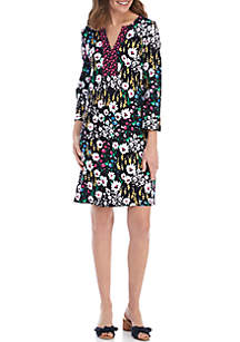 715620ac7dd3f ... Crown   Ivy™ 3 4 Split Sleeve Floral Dress