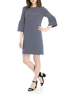 490ca1f8b57f ... Crown & Ivy™ Round Neck Striped Dress