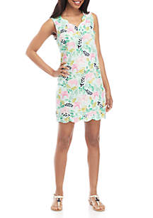 Crown & Ivy™ Scallop Hem Shift Dress