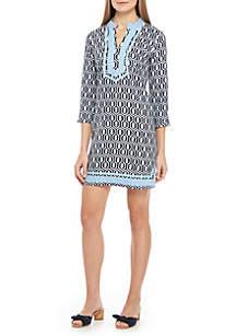 Crown & Ivy™ 3/4 Sleeve Print Kurta Dress