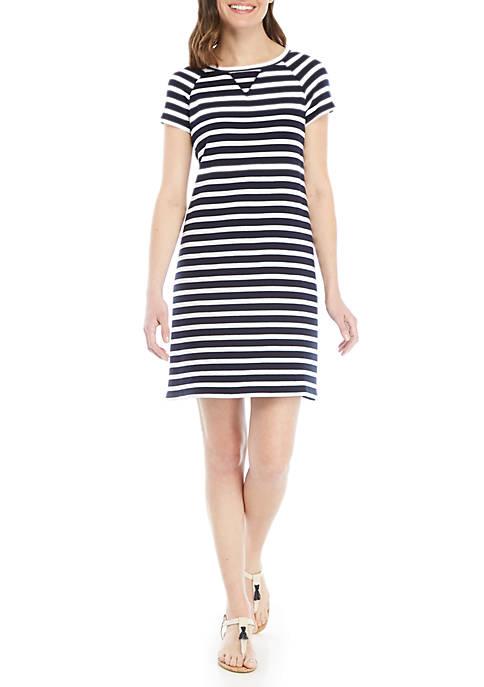 Crown & Ivy™ Short Sleeve Knit Shirt Dress