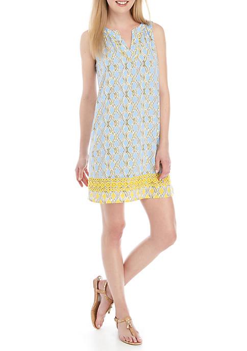Crown & Ivy™ Sleeveless Printed Peasant Dress