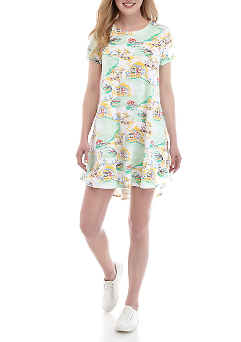 Crown & Ivy™ Short Sleeve Swing Dress