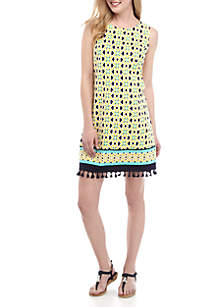 Crown & Ivy™ Sleeveless Tassel A Line Dress