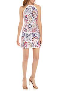 Crown & Ivy™ Printed Halter Dress