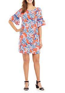 50a4b9fb158 ... Crown   Ivy™ Short Bell Sleeve Print Dress