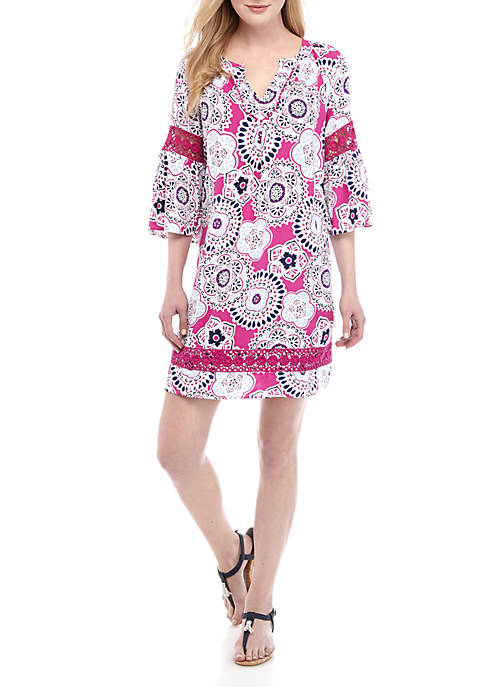 Crown & Ivy™ Floral Printed Peasant Dress
