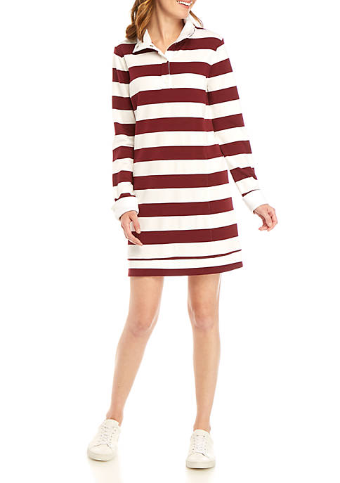 Crown & Ivy™ Long Sleeve Mock Neck Dress
