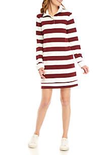 Crown & Ivy™ Long Sleeve Mock Neck Dress