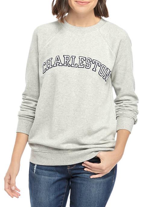 Crown & Ivy™ Womens Long Raglan Sleeve Sweatshirt