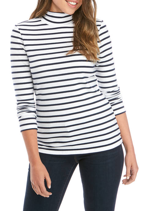 Crown & Ivy™ Womens Long Sleeve Ribbed Turtleneck
