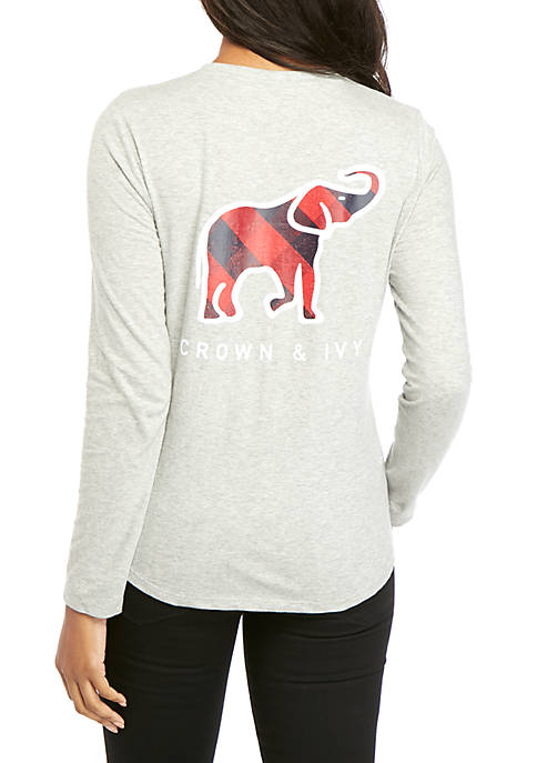 Crown & Ivy™ Long Sleeve Graphic T-Shirt