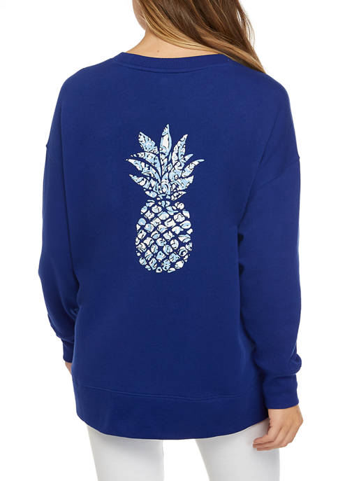 Crown & Ivy™ Womens Long Sleeve Crew Neck