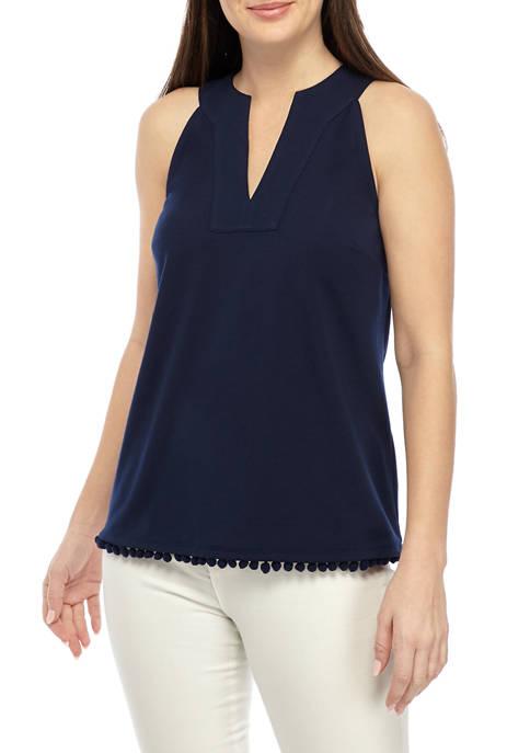 Womens Split Neck Tank Top