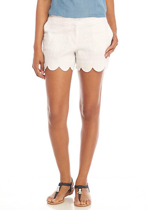 Crown & Ivy™ Shelby Scalloped Hem Shorts