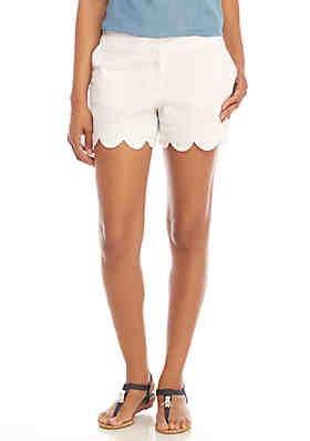 ec03f86fd18ad Crown & Ivy™ Shelby Scalloped Hem Shorts ...