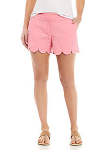 Mommy & Me Scalloped Shorts