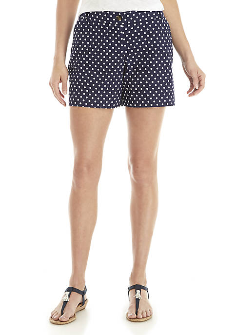 Crown & Ivy™ Polka Dot Shorts