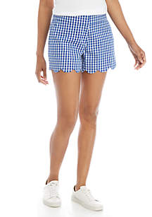 Crown & Ivy™ Shelby Scallop Hem Shorts