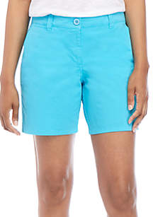 Crown & Ivy™ Charlotte Relaxed Roll Chino Shorts